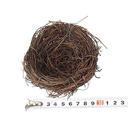 BeesClover Artificial Birds Nest/Simulation Eggs for Easter Garden Decoration Props 10CM Bird nest (Articles Rattan Craft)