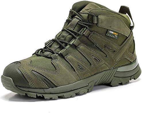 Homejuan Herren Tactical Stiefel Military Desert Combat Boots Outdoor-Kletter Patrol Armee Wanderschuhe Black-44(UK9.5)