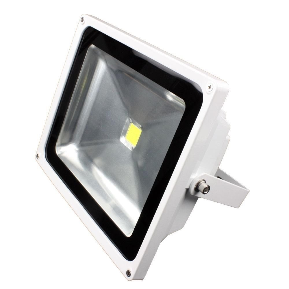 Lunasea White Outdoor LED Flood Light - 12V/50W/4500 Lumens - Power Consumption: