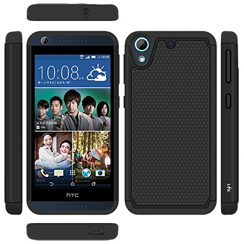 reputable site 5bfc4 1b7d9 LK Case for HTC Desire 626 / 626s, [Shockproof] Hybrid Dual Layer Armor  Defender Protective Case Cover for HTC Desire 626 / 626s (Black)