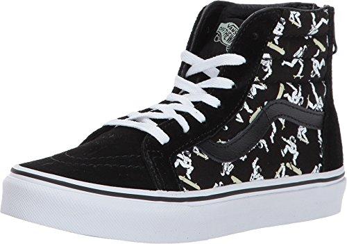 - Vans Kids Sk8-Hi Zip (Austronaut Skate) Blk/Twht Skate Shoe 11 Kids US