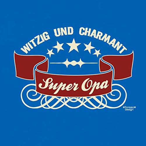 Großvater Fun-T-shirt als Top Geschenk mit GRATIS Urkunde - Super Opa Farbe: royal-blau Gr: M