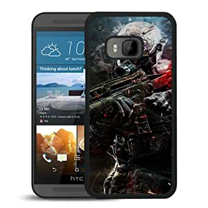Call Of Duty Modern Soldier Black HTC ONE M9 Screen Phone Case Newest and Genuine Design