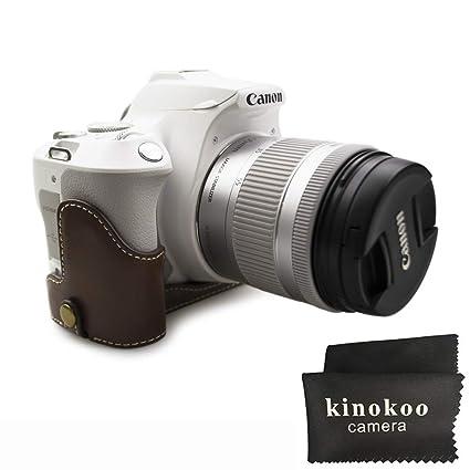 kinokoo mitad Case Material PU protectora para Canon EOS 200d ...