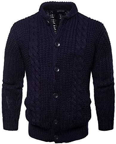 LIUFENGLONG Thick Long Sleeves Men`s Pure Color Knit Cardigan Winter Thick Warm Dark SweaterButtons Thermal Knitting / LIUFENGLONG Thick Long Sleeves Men`s Pure Color Knit Cardigan Winter Thick Warm Dark SweaterButtons Thermal Knit...