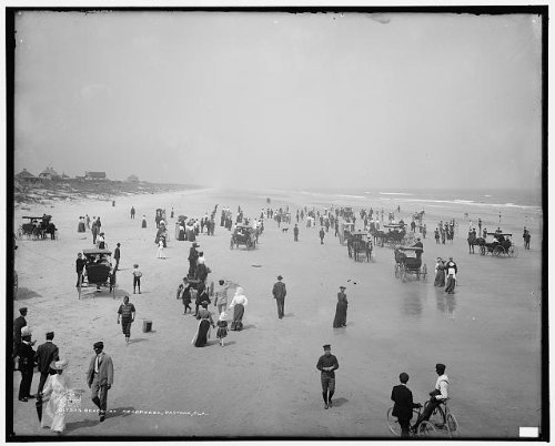 Photo: Beach,Seabreeze,swimmers,carriages,Daytona,Florida,FL,Detroit - Beach Daytona To Places In Shop