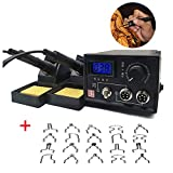 TOPCHANCES Professional Woodburning Detailer Laser Pyrography Machine Wood Burning Kit for Wood Leather,Christmas Nice Present (Dual Digital Display)