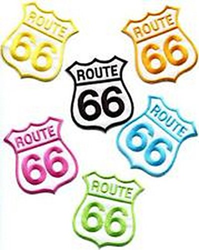 Spinner Lot of 6 Route 66 retro muscle cars 60s americana USA appliques iron-on patches Better Bag Cloth Tee Shirt (Blazer Route 66)