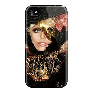 Jeffrehing Fashion Protective Lady Gaga Case Cover For Iphone 4/4s