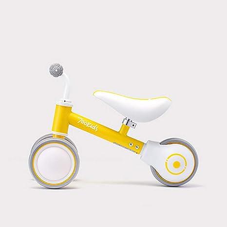 SHARESUN Baby Balance Bicicletas Bicicleta Niños Caminante 10 Meses -24 Meses Juguetes para niños de 1 año Sin Pedales Infantiles 3 Ruedas Niño Primer cumpleaños Cumpleaños Regalo,Yellow: Amazon.es: Deportes y aire libre
