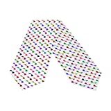 ABLINK Neat Musical Note Dance White Polyester Table Runner 13 x 70 Inches Long Table Top Decoration