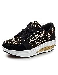 QZBAOSHU Fashion Sneakers Girls Women Fitness Running Sports Shoes Wedges