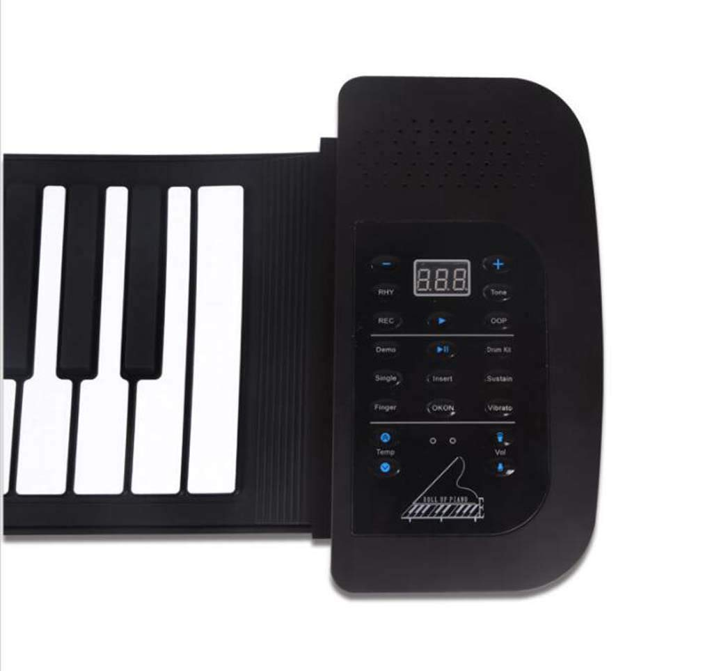 CE-LXYYD 61-Key Portable Piano with Voice-Over, Collapsible Silicone Electronic Hand roll Piano, dustproof and Waterproof, Easy to Clean, Easy to Carry, Easy to Maintain, The Best by CE-LXYYD (Image #3)