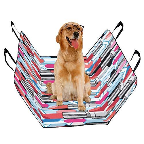 XINGCHENSS Fashion Oxford Pet Car Seat Lipstick Lady Cosmetics Vintage Fashion Creative Design Waterproof Nonslip Canine Pet Dog Bed Hammock Convertible for Cars Trucks SUV ()