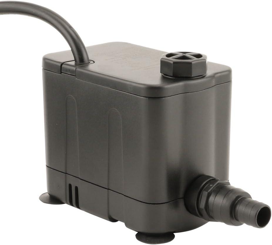 EcoPlus 727800 Pump, Convertible Bottom Draw Water 265 GPH, Black