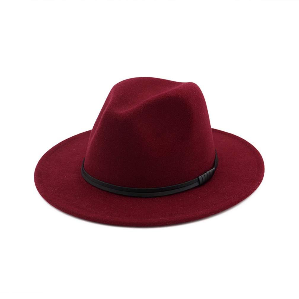 Vintage Fedoras Leather Cord Decoration Wide Brim Wool Felt Bowler Women Men Trendy Jazz Hat