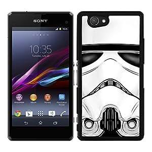 Funda carcasa para Sony Xperia Z1 Compact cara soldado SW borde negro