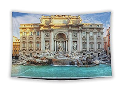 Gear New Wall Tapestry For Bedroom Hanging Art Decor College Dorm Bohemian, Trevi Fountain Rome Italy