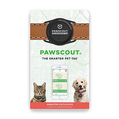 Pawscout Smarter Pet Tag New Version 2.0 - Dog and Cat Community Pet Tracker (Bluetooth, not GPS), Medical Profile, Outdoor Virtual Pet Leash, Walk Tracker, Pet Points of Interest, No Monthly Fees ()