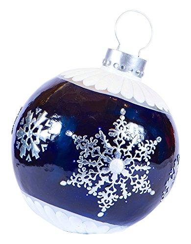 bethlehem lighting gki lighted commercial grade blue fiberglass decoration christmas ball ornament 31