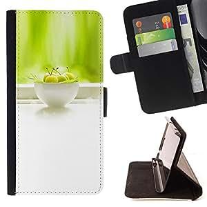 For HTC One M7 - Fresh fruit /Funda de piel cubierta de la carpeta Foilo con cierre magn???¡¯????tico/ - Super Marley Shop -