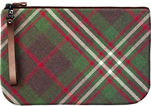 Medium Leather Clutch Bag With Scott Tartan Large Enough to Fit an iPad
