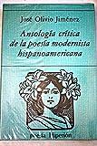 Antologia Critica de la Poesia Modernista HispanoAmericana 9788475171494