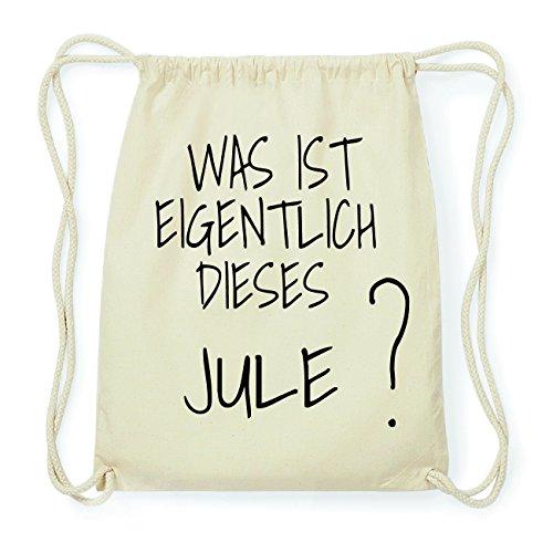 JOllify JULE Hipster Turnbeutel Tasche Rucksack aus Baumwolle - Farbe: natur Design: Was ist eigentlich