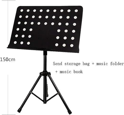 yjtypj Atril Musica Stand, Partituras Plegable Portátil Metal Base ...