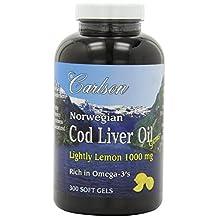 Carlson Labs Cod Liver Oil, Lemon, 300 Count