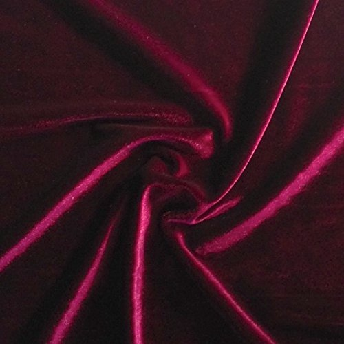 Micro Velvet Soft Fabric 45' inches By the Yard for Sewing Apparel Crafts (Wine)
