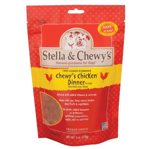 Stella and Chewy's Freeze Dried Dog Food for Adult Dogs, Chicken Patties, 6-Ounce Bag, My Pet Supplies