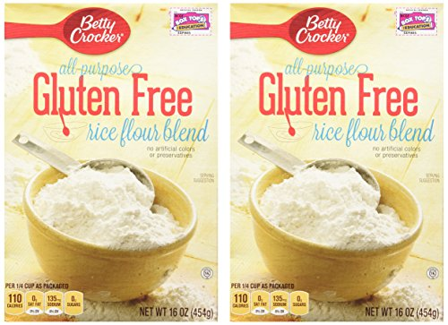 - Betty Crocker, Rice Flour Blend, Gluten Free, All-Purpose, 16oz Box (Pack of 2)