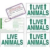 DryFur Live Animal Label Set of 5 Stickers