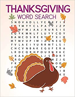 Amazon Com Thanksgiving Word Search Large Print Thanksgiving Word Search Puzzle Holiday Word Search Books 9781726653848 Hovel Puzzle Books