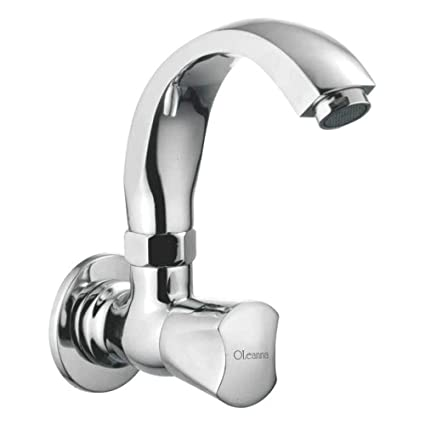 Oleanna Classic Sink Tap with Swivel Casted Spout Wall Mounted Model (Chrome)