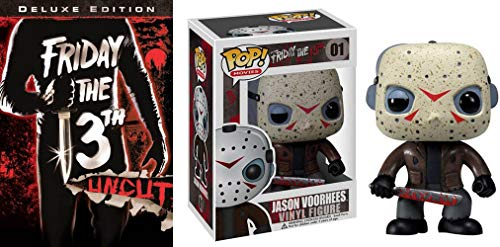 Jason Voorhees 1980 Horror Pack - Friday The 13th Deluxe Edition (Uncut) DVD & Action Figure Pop 01 Collectible Thrill Bundle