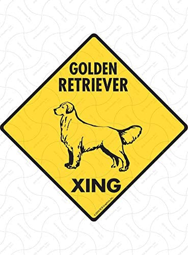 "12/""x12/"" plastic Golden Retriever sign xing Crossings animal dog"
