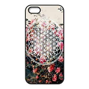 Bring Me The Horizon Pattern Design Solid Rubber Customized Cover Case for iPhone 4 4s 4s-linda314