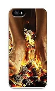 taoyix diy iPhone 5 5S Case April Fools Coals Fire Feet 3D Custom iPhone 5 5S Case Cover