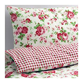 Ikea Bettwasche Set Rosali Ubergrosse Bett Garnitur 3 Teilig