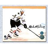 Autographed Modano Picture - White Jersey 8x10 - Autographed NHL Photos