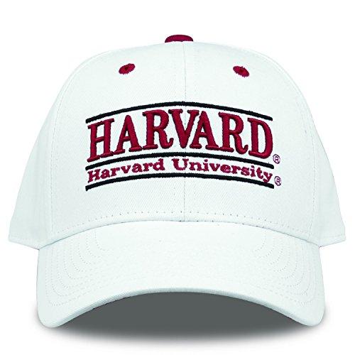 The Game NCAA Harvard Crimson Bar Design Hat, White, Adjustable