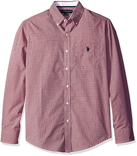 U.S. Polo Assn. Mens Gingham Check Long Sleeve Woven Shirt