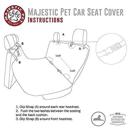 Amazon Majestic Grey Hammock Dog Car Seat Cover Waterproof Non