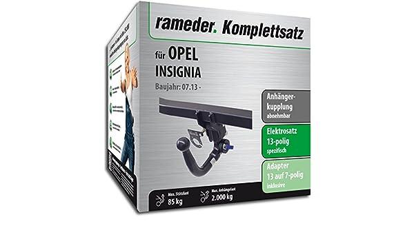 rameder Juego completo, remolque extraíble + 13POL Elektrik para Opel Insignia (146783 - 07581 - 2): Amazon.es: Coche y moto
