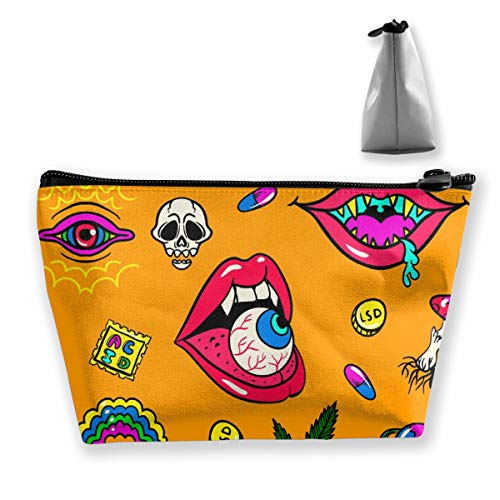 Architd Commission Halloween Devil's Eye Practical Cosmetics Storage Bags, Fashion Jewelry Storage Bags Coin Purse