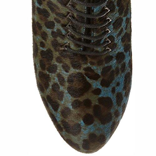 de PP Hautes Chaussures Travail Fait d'automne avec Fines 8018FD Femmes Cuir de A Main étanche Bottes Bottes Chaussure pour Ouvert Bohésiens Fines Hiver qwvSFq