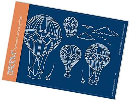 Groovi Template by Claritystamp ~ Ballooning A6 Plate GRO40665