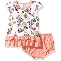 GUESS Baby Girls' Set-Sleeveless Printed Dress with Diaper Cover